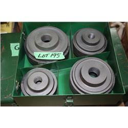 "Greenlee Knockout Cuttrs - 2 1/2"", 3"", 3 1/2"" & 4"""