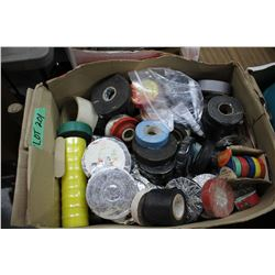 Box full of Various Rolls of Electrical Tape