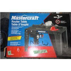 Mastercraft Router Table (New)