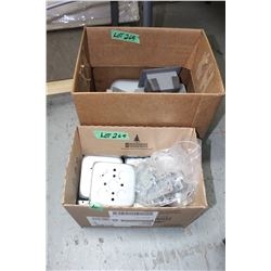 Box of Sq. Electrical Boxes & Box of Misc. Boxes