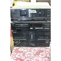 Fisher Stereo Unit - Receiver, CD Player, Amp