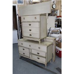 Dresser Set w/Tall Dresser & 6 Drwr Dresser, Headbrd., Footbrd. & Rails