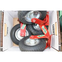 "4 - 8"" Pneumatic Wheels w/Mounts"