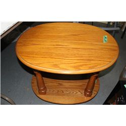 2 Oval Oak End Tables