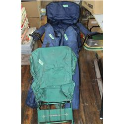 4 Folding Camp Chairs & a Back Pack