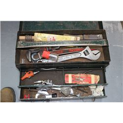 Metal Tool Box w/Tools