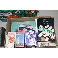 Box of Player Cards & a Card Shuffler