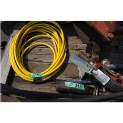 Yellow Air Hose; 2 Scaffold Wheels & Outdoor Elec. Switch