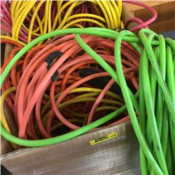 Box Lot: Large Variety Extension Cords