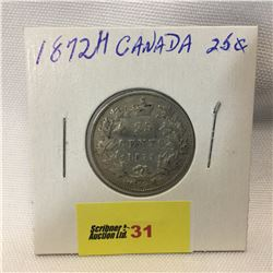 Canada Twenty Five Cent 1872H