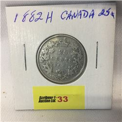 Canada Twenty Five Cent 1882H
