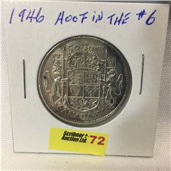 Canada Fifty Cent 1946 (Hoof through 6)