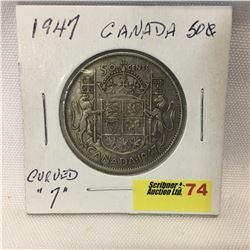 Canada Fifty Cent 1947 Curved