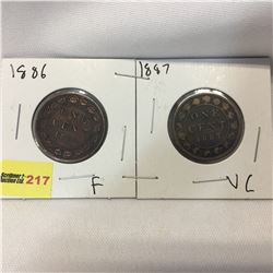 Canada Large Cent - Set of 2: 1886; 1887