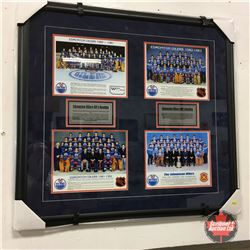 """Professionally Framed Oilers Team Photos from 1984-1984 w/Oilers History (32"""" x 31"""")"""