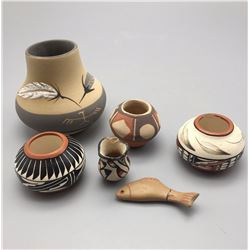 Group of 6 Miniature Pots