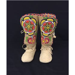 Tall Top Yakima Beaded Moccasins