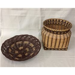 Pueblo and Cherokee Baskets