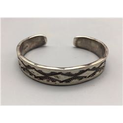 Navajo Made Sterling Silver Bracelet