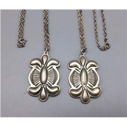 Pair of Sterling Silver Necklaces - Pendants
