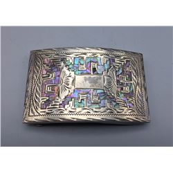 Inlay and Sterling Silver Buckle