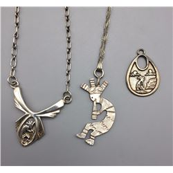 Group of 3 Kokopelli Pendants