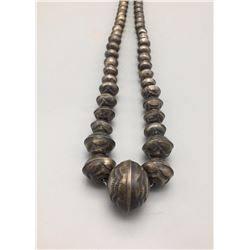 Silver Beaded 'Navajo Pearls' Necklace