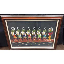 Framed Yei-Be-Chei Folk Art