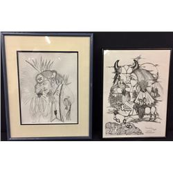 Pair of Original Drawings