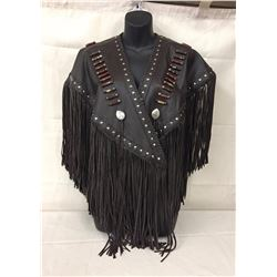 Native Made Ladies Leather Vest