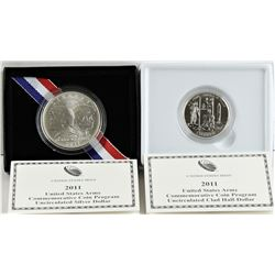 U.S. 2011-S & D United States Army Silver $1 & Clad 50¢ Commemorative Business Strikes W/ Box & COA