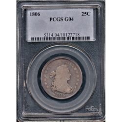 1806 Draped Bust Quarter PCGS G04