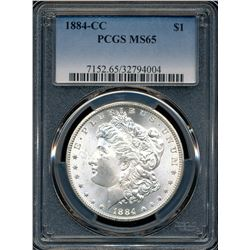 1884-CC Morgan Dollar PCGS MS65