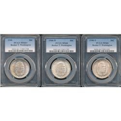 1946 Booker T. Washington PDS Set PCGS MS66 – MS66+