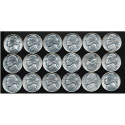 U.S. 1943-P,D & S Silver War Nickels (6 Sets)