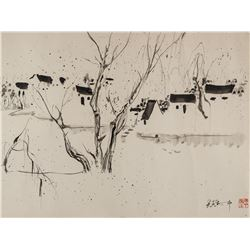 WU GUANZHONG Chinese 1919-2010 Watercolor on Paper