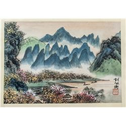 HU PEIHENG Chinese 1892-1965 Watercolor Booklet
