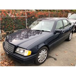 1996 MERCEDES C220, BLUE, 4DRSD, 2.2L, GAS, AUTOMATIC, VIN#WDBHA22E5TF445256, 97,197KMS,