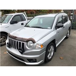 2009 JEEP COMPASS RALLYE, GREY, 4DRSW, 2.4L, GAS, AUTOMATIC, VIN#1J4FF47BX9D166856, 74,961KMS,