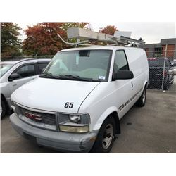 2002 GMC SAFARI VAN, WHITE, GAS, AUTOMATIC, VIN#1GTDM19X42B516686, 139,835KMS, RD, CARGO WITH TOOL