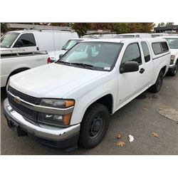 2008 CHEVROLET COLORADO, PICKUP, WHITE, GAS, AUTOMATIC, VIN#1GCCS299688226724, 118,886KMS, RD,TW, 1