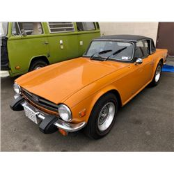 1976 TRIUMPH TRX 6 CONVERTIBLE VIN #CF51679, ORANGE, NO KEY