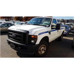 2010 FORD F-250 SUPERDUTY, PU, WHITE, VIN # 1FTSX2BY1AEA54723