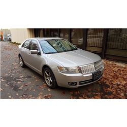 2007 LINCOLN MKZ AWD, 4DR SEDAN, GREY, VIN # 3LNHM28TX7R650428