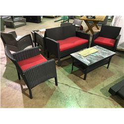 (FLOOR DISPLAY) 4 PIECE BLACK DARCI CHAT SET