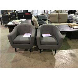 CANVAS GREY ESSEX TUB STYLE ARM CHAIR