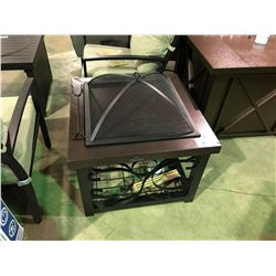 (BOXED) BROWN  PARAMOUNT OUTDOOR WOOD BURNING FIREPIT