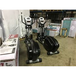MILEAGE ELLIPTICAL CROSS TRAINER WITH LCD MONITOR