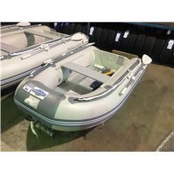 BAKERVIEW  GREY AND WHITE ZYD-230AL 3 PERSON SOFT BOTTOM INFLATABLE BOAT (IN BOX)