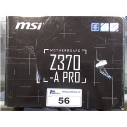 MSI Z360-A PRO MOTHERBOARD
